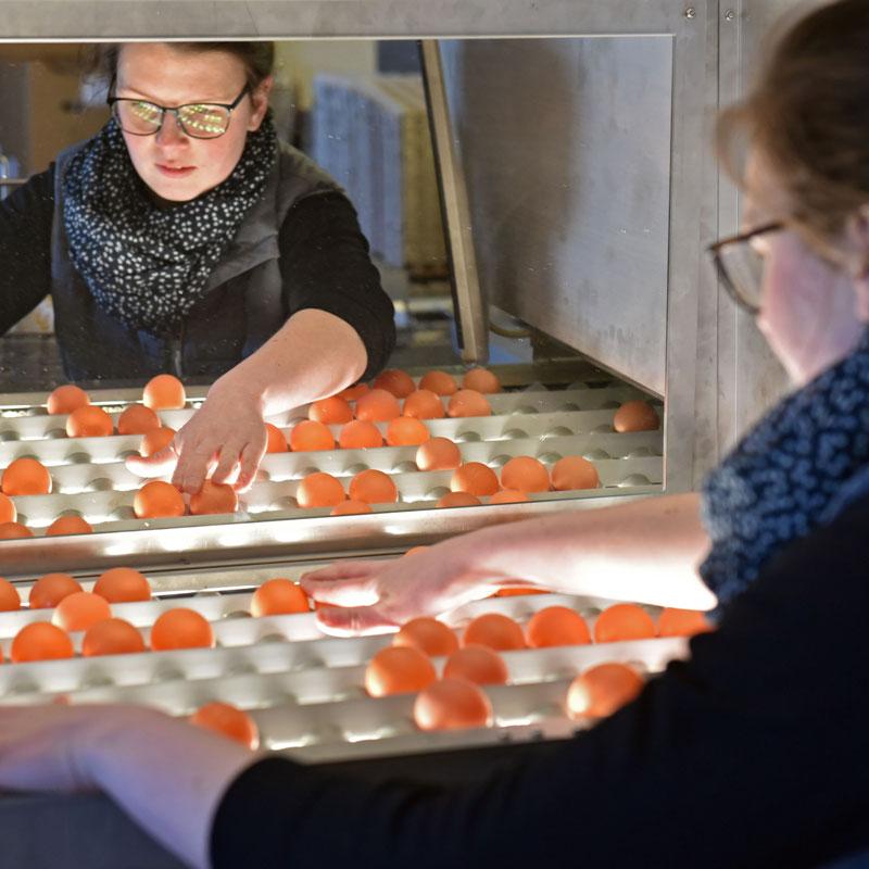 Johanna Klaas bei der Qualitätskontrolle